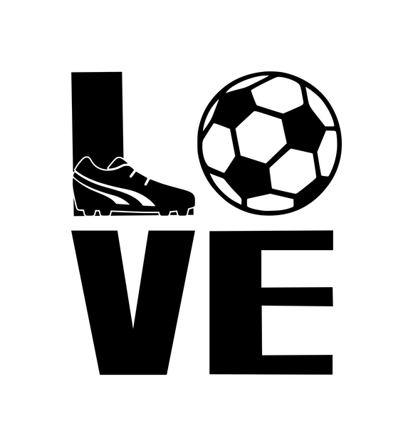 Sports! | Love Soccer Digital DXF | PNG | SVG Files!