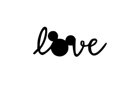 Love Disney Mouse Ears Digital DXF | PNG | SVG Files!
