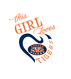 This Girl Loves AU Tigers Digital DXF | PNG | SVG Files!