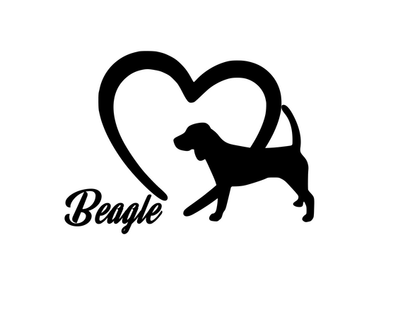Dog Lover! | Loves Beagles Digital DXF | PNG | SVG Files!