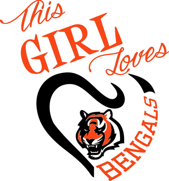This Girl Loves Bengals Digital DXF | PNG | SVG Files!