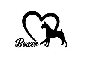 Dog Lover! | Loves Boxers Digital DXF | PNG | SVG Files!
