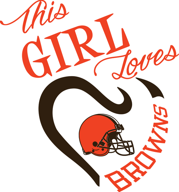 This Girl Loves Browns Digital DXF | PNG | SVG Files!