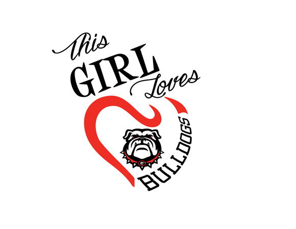 This Girl Loves Bulldogs Digital DXF | PNG | SVG Files!