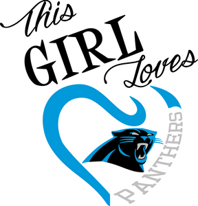 This Girl Loves Carolina Panthers Digital DXF | PNG | SVG Files!