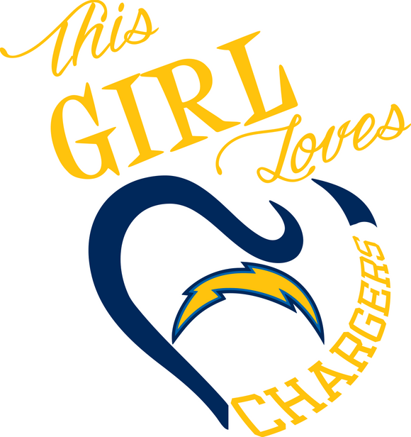 This Girl Loves Chargers Digital DXF | PNG | SVG Files!