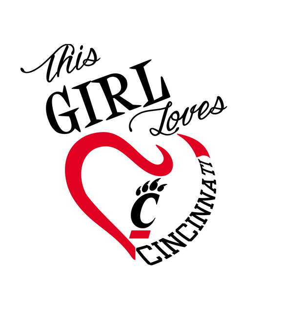 This Girl Loves Cincinnati Bearcats Digital DXF | PNG | SVG Files!