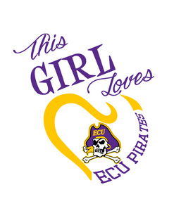 This Girl Loves ECU Pirates  Digital DXF | PNG | SVG Files!