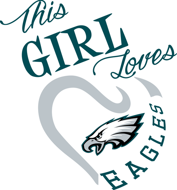 This Girl Loves Eagles Digital DXF | PNG | SVG Files!