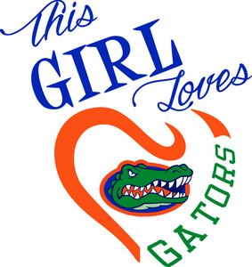 This Girl Loves Florida Gators Digital DXF | PNG | SVG Files!