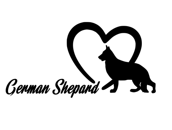Dog Lover! | Loves German Shepards Digital DXF | PNG | SVG Files!