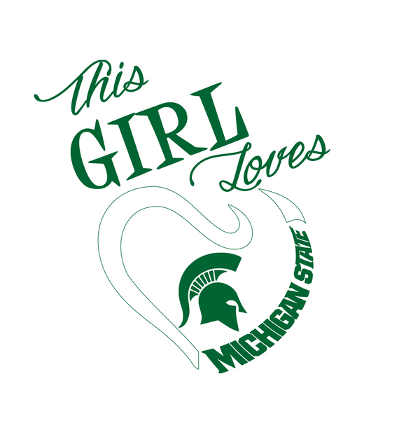 This Girl Loves Michigan State Digital DXF | PNG | SVG Files!