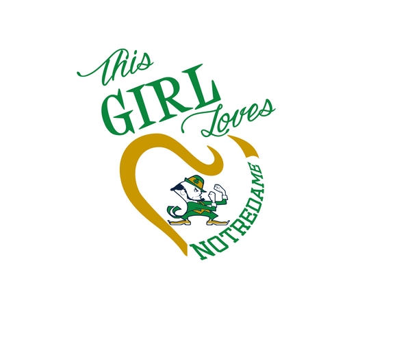 This Girl Loves Notre Dame Digital DXF | PNG | SVG Files!