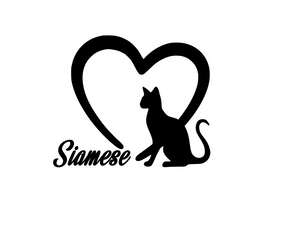 Cat Lover! | Loves Siameses Digital DXF | PNG | SVG Files!