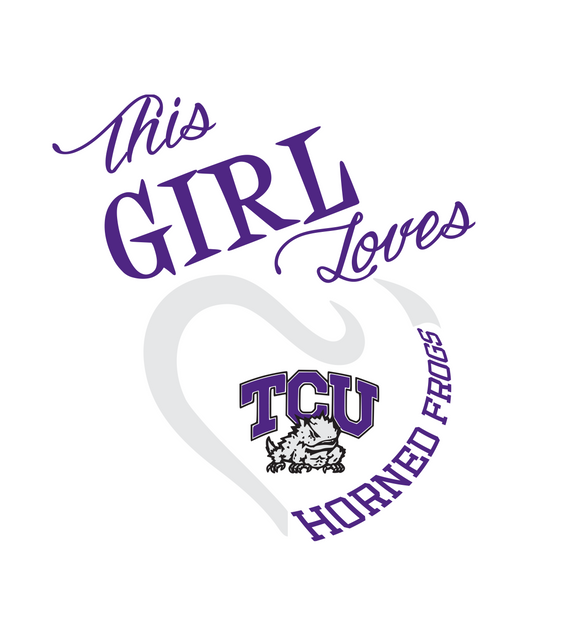 This Girl Loves TCU Horned Frogs Digital DXF | PNG | SVG Files!