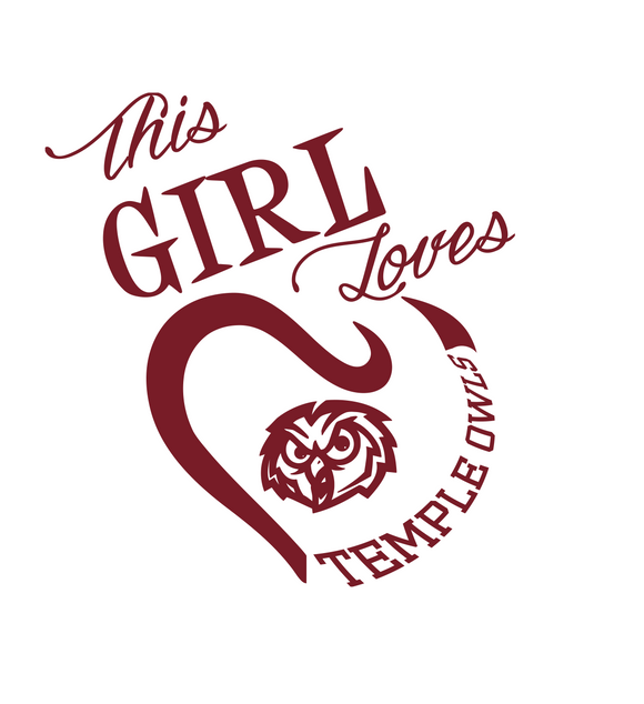 This Girl Loves Temple Owls Digital DXF | PNG | SVG Files!