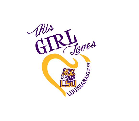 This Girl Loves Louisiana Tigers  Digital DXF | PNG | SVG Files!