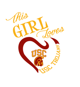 This Girl Loves USC Trojans Digital DXF | PNG | SVG Files!