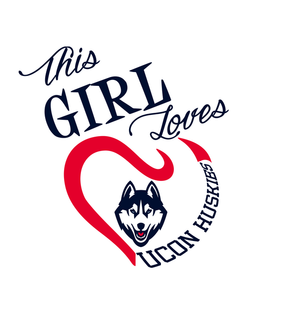 This Girl Loves UCON Huskies Digital DXF | PNG | SVG Files!