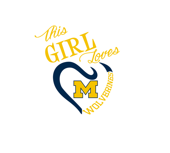 This Girl Loves Michigan Wolverines Digital DXF | PNG | SVG Files!