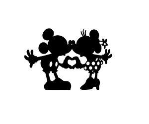 Disney Inspired | Mickey & Minnie Love Hands Digital DXF | PNG | SVG Files!
