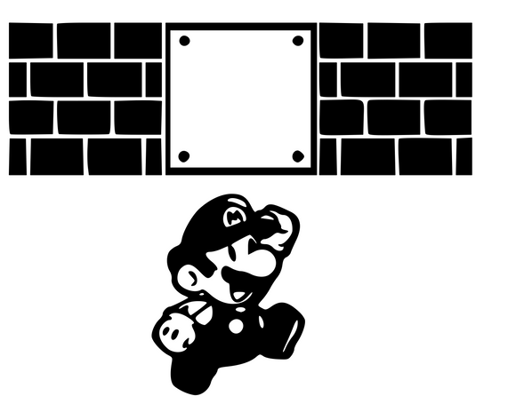 Nintendo Inspired | Mario Jump & Hit Blocks Digital DXF | PNG | SVG Files!