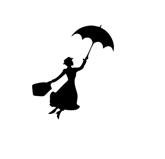 Mary Poppins Digital DXF | PNG | SVG Files!