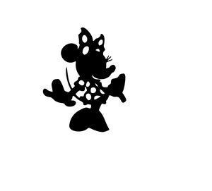 Fancy Minnie Mouse Digital DXF | PNG | SVG Files!