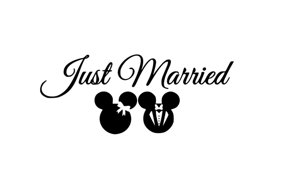 Disney Inspired | Just Married Digital DXF | PNG | SVG Files!