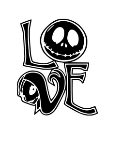 Nightmare Before Christmas Inspired | Jack and Sally LOVE Digital DXF | PNG | SVG Files!