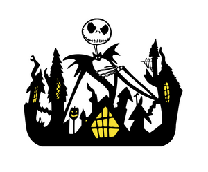 Nightmare Before Christmas Inspired | Jack & Town  Digital DXF | PNG | SVG Files!