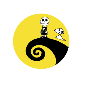 Nightmare Before Christmas Inspired | Scene with Charlie Brown!  Digital DXF | PNG | SVG Files!
