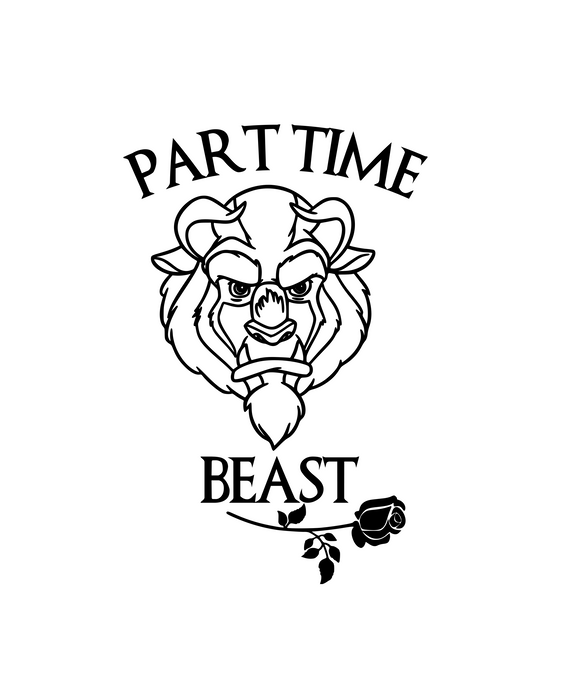 Part Time Beast Digital DXF | PNG | SVG Files!