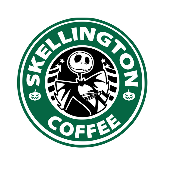 Starbucks | Jack Skellington Digital DXF | PNG | SVG Files!