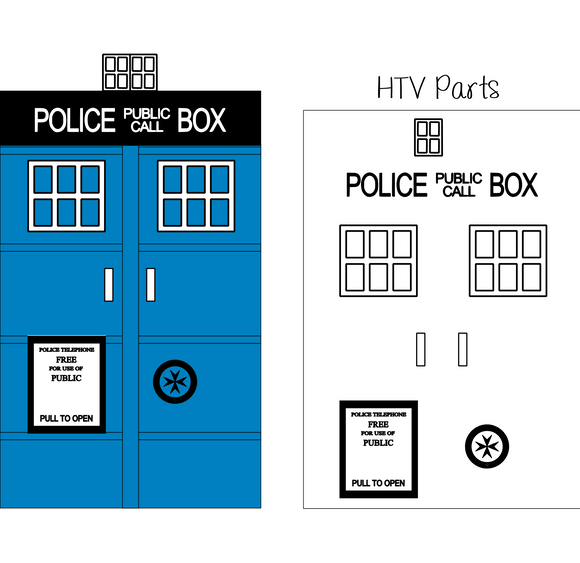 Dr. Who | Tardis Digital DXF | PNG | SVG Files!
