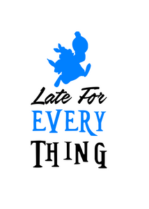 "Alice in Wonderland White Rabbit ""Late"" Digital DXF 