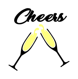 Wine | Champagne | Cheers! Digital DXF | PNG | SVG Files!