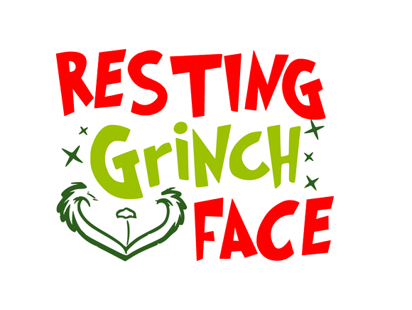 Resting Grinch Face Digital DXF | PNG | SVG Files!