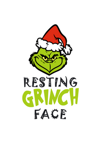 Resting Grinch Face (with Hat) Digital DXF | PNG | SVG Files!