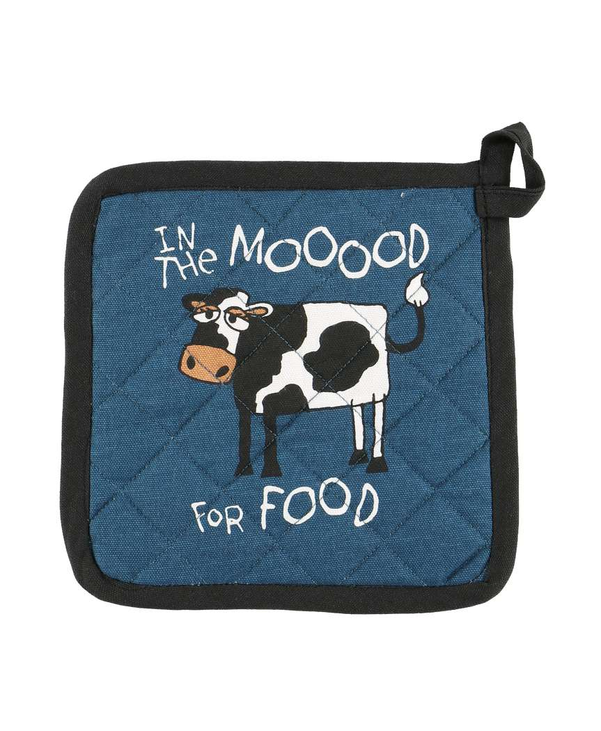 In the Mood for Food Cow Pot Holder by Lazy One