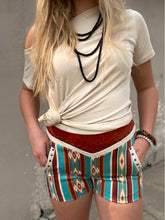 Crazy Train Red Honcho Aztec Serape Shorts
