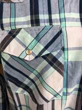 Wrangler Sport Blues With Turquoise Plaid Snap Shirt