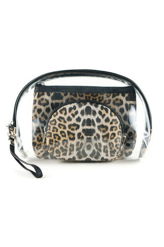 Leopard Cosmetic Bag Set
