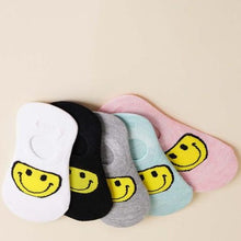 No Show Smile Face Socks (multiple Colors)