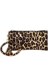 Leopard Zipper Pouch and Wrist Bangle