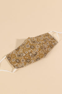 Bandana Pattern Reusable Face Masks (TWO COLORS)