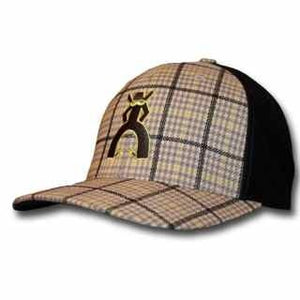 "HOOey Punchy, ""The Rustler"" Grey/Black/Light Green Plaid Cap"