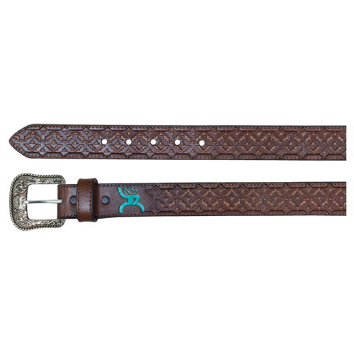 HOOey Men's Roughy Belt Chocolate Aztec