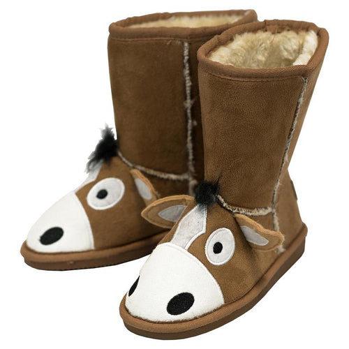 Kids Horse Toasty Toes Slippers