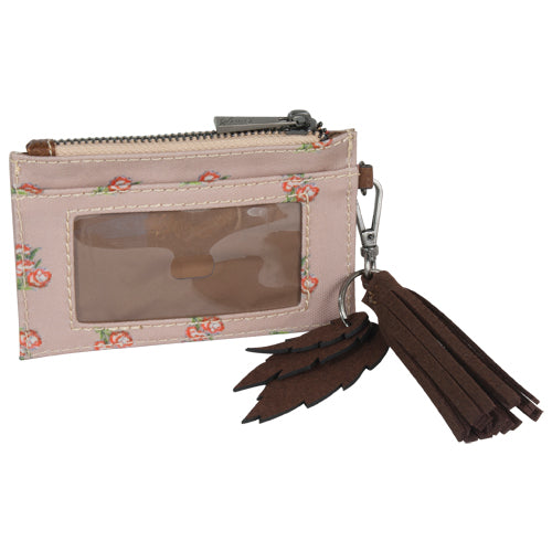 Catchfly Emily Flower ID Wallet with Keychain